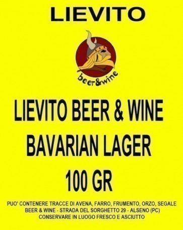 LIEVITO SECCO BEER & WINE BAVARIAN LAGER - 100 GR