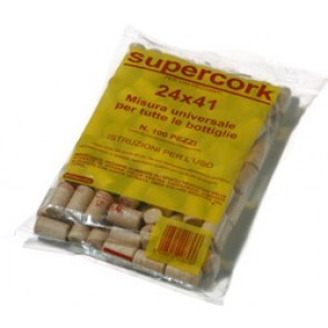 TAPPO SINTETICO SUPERCORK 24X39 (CONFEZ. 100 PZ.) MADE IN ITALY
